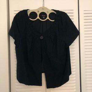 Style & Co. black eyelet jacket